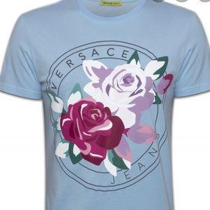 Ladies Versace floral screen printing tee